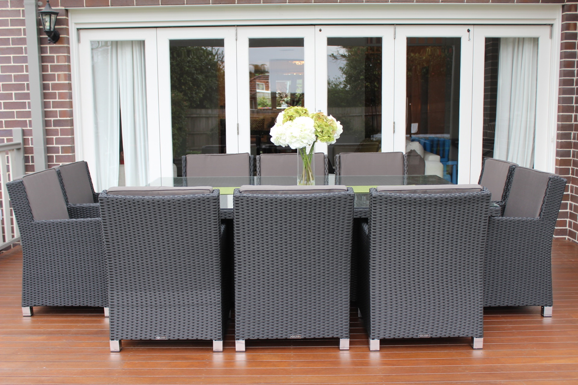 garden furniture penrith images guru royale  seater wicker dining  x: dining table that seats 10