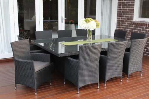 Outdoor Wicker Dining 10 seater Patio Setting