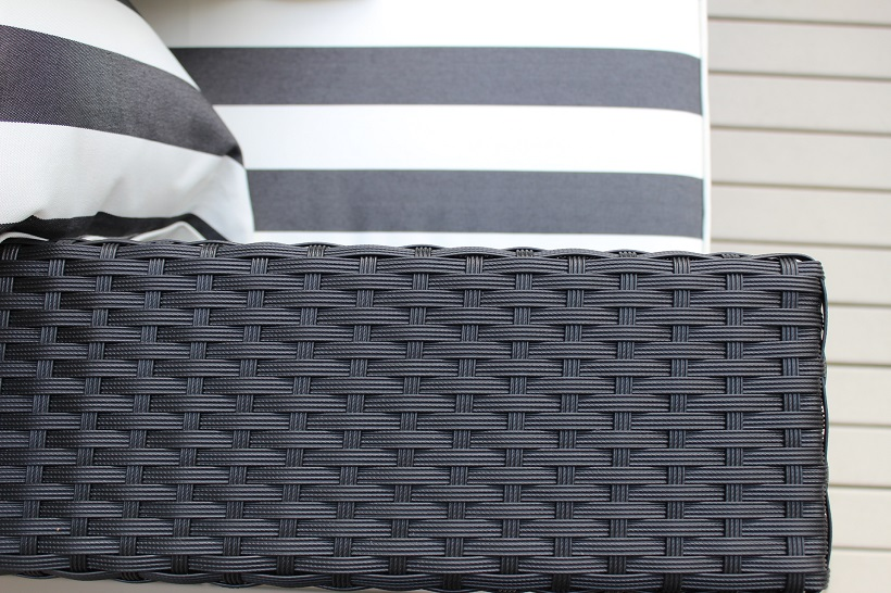 Outdoor Rattan Furniture : Black wicker with Black and white stripes from mywicker.com.au size 820 x 546 jpeg 167kB