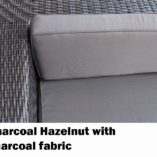 Charcoal Hazelnut Wicker with charcoal fabric Outdoor Wicker Sofa