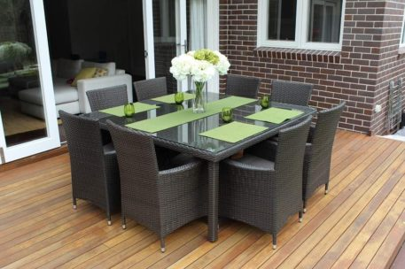 8 Seater Square Outdoor Wicker Setting