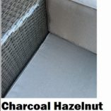 Charcoal Hazelnut wicker with grey brown fabric Outdoor Wicker Setting
