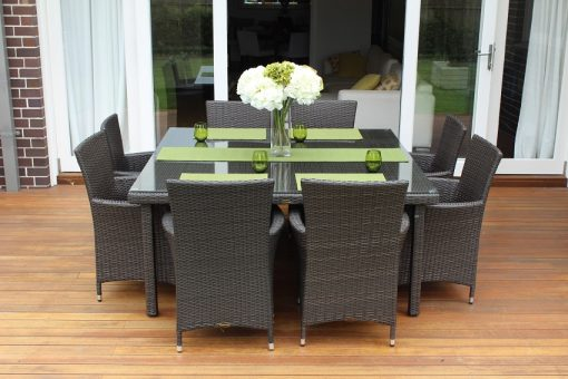 Gartemoebe 8 Seater Square Outdoor Rattan dining setting