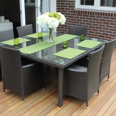 Gartemoebe 6 Seater Outdoor Dining SettingCharcoal Hazelnut