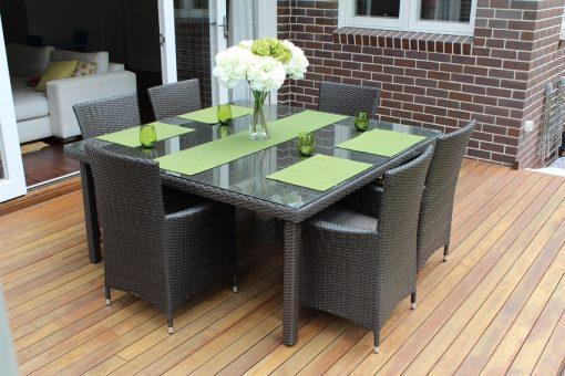 Gartemoebe 6 Seater Outdoor Dining SettingCharcoal Hazelnut