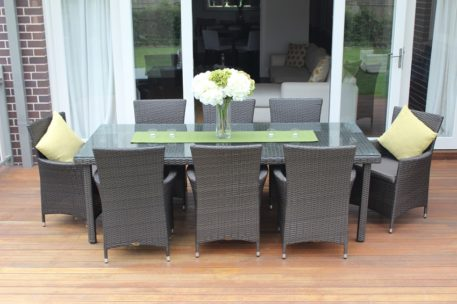 8 Seater Oblong Outdoor Wicker Dining Setting