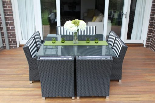 Royale 8 Seater Square Outdoor Rattan Dining Setting