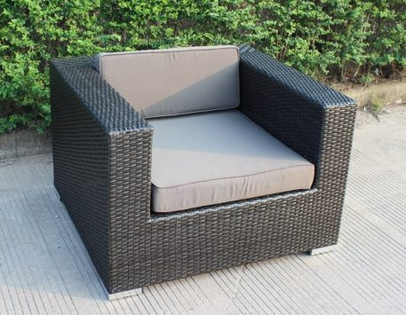 Charcoal wicker with charcoal fabric