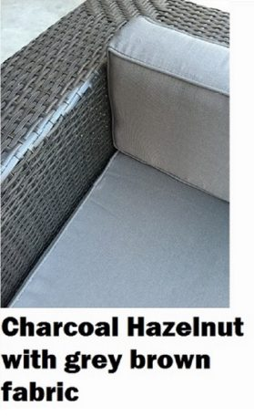Charcoal Hazelnut Outdoor Wicker Lounge Setting