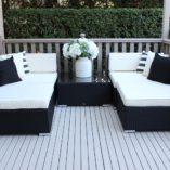 Gartemoebe Five Ways Modular Patio Furniture Setting, black