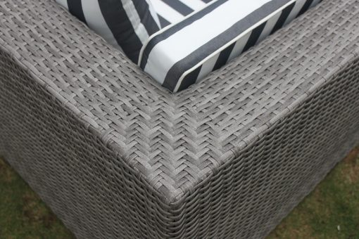 Vintage Grey with black and white fabric cushion