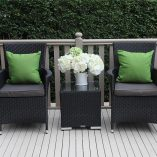 Outdoor Wicker 3 piece patio set Black with charcoal fabric