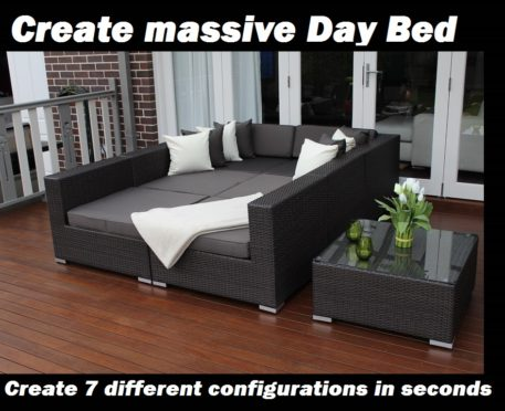 Seven Ways wicker furniture Daybed configuration