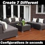 7 ways outdoor wicker lounge setting