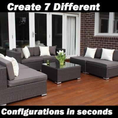 7 ways outdoor wicker lounge setting