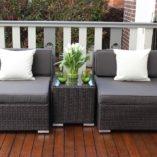 Gartemoebe wicker patio furniture setting