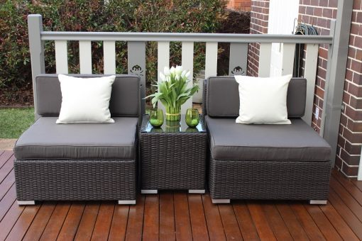 Gartemoebe wicker patio furniture setting