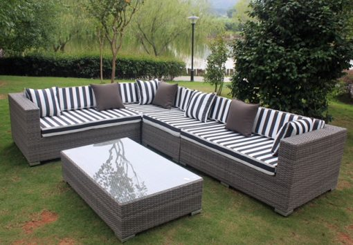 Gartemoebe L Shape with coffee table lounge setting Vintage Grey
