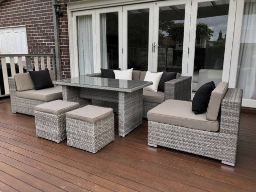 5 Ways Vintage Grey Outdoor Lounge setting