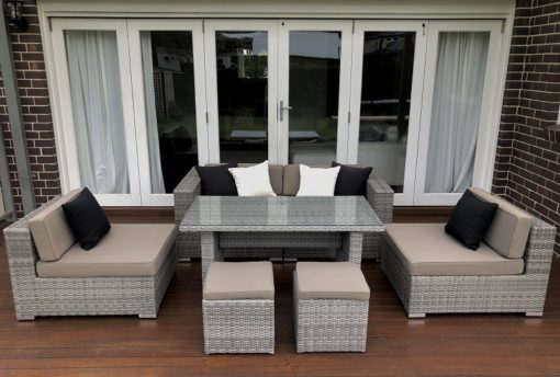5 Ways Vintage Grey Outdoor wicker Lounge setting