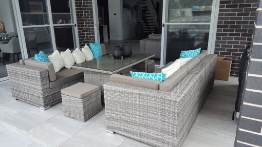 7 Ways Casual Diining Outdoor Wicker Setting Vintage Grey