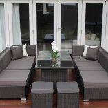 7 Ways Outdoor Wicker Lounge Diner 2 3 seaters and ottomons