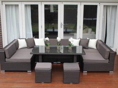 Seven Ways Outdoor Wicker Lounge Diner Setting