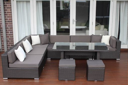 7 Ways Outdoor Wicker Lounge Diner L Shape
