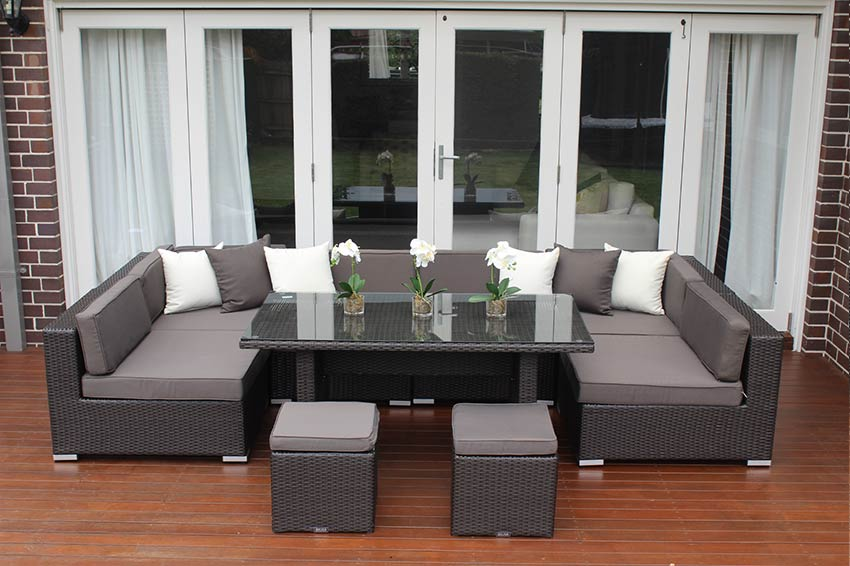 Seven Ways Modular Outdoor Wicker Furniture Setting In