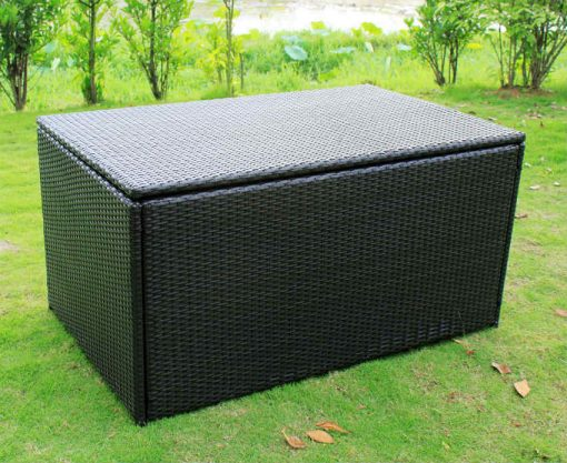 Outdoor Wicker Storage Box Ottomon
