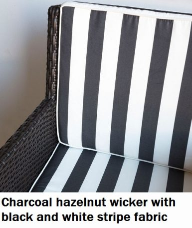 Charcoal Hazelnut with Black and White Fabric Royale Dining Chair