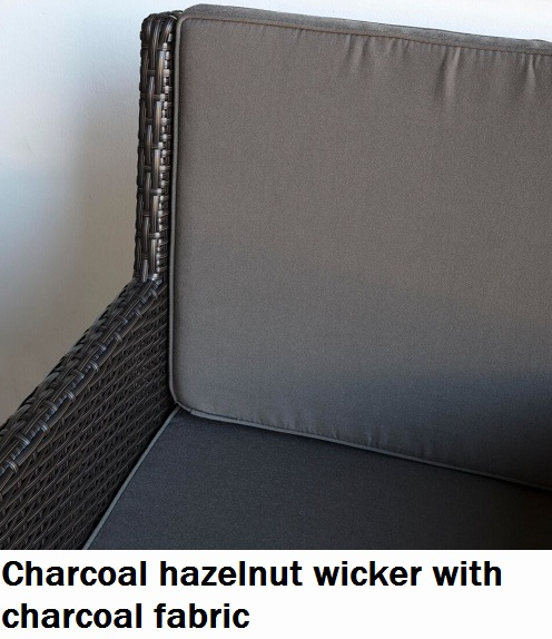 Charcoal Hazelnut with Charcoal fabric Royale Dining Chair