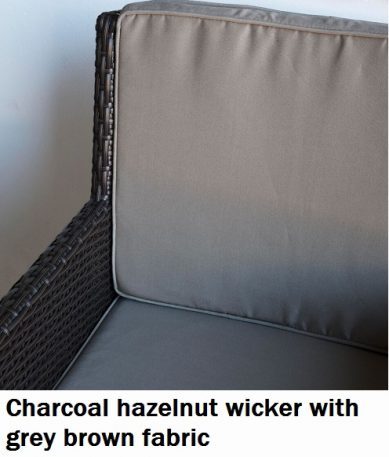 Charcoal Hazelnut with Grey Brown fabric Royale Dining Chair