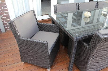 Royale 8 Seater Oblong Outdoor Wicker Dining Patio Set