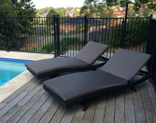 outdoor furniture sun chairs cushioned