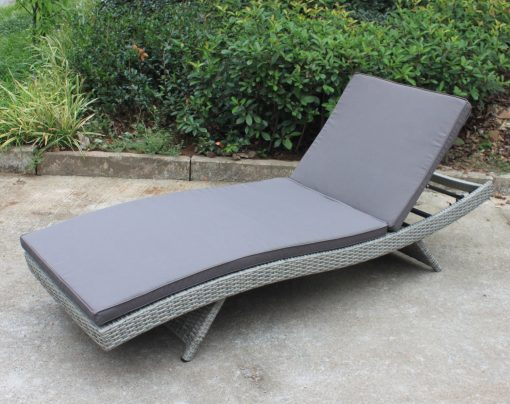 Sun Lounge Vintage Grey With Charcoal Fabric