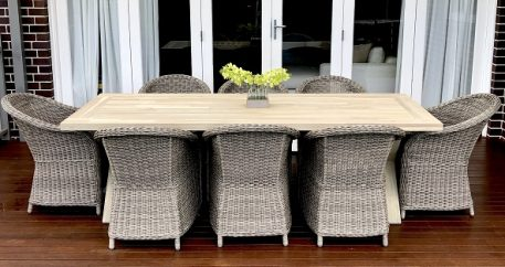 Norfolk Wicker Dining Setting