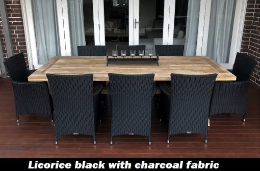 acacia wood 8 seater norwich dining setting