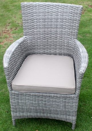 Norfok Outdoor Dining Setting Aged Grey Chairs