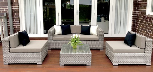 5 Ways Outdoor Lounge Setting Aged Grey