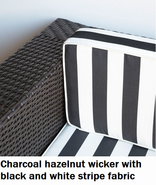 Charcoal Hazelnut with Black and White Fabric Lounge