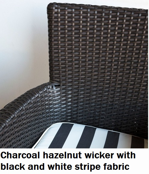 Charcoal Hazelnut with Black and White Fabric