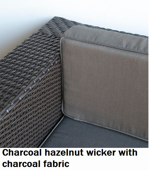 Charcoal Hazelnut with Charcoal Fabric Lounge