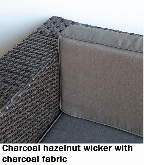Charcoal Hazelnut with Charcoal Fabric Lounge