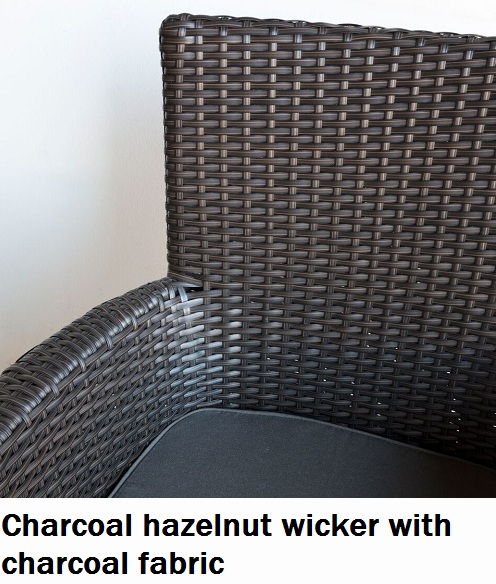Charcoal Hazelnut with Charcoal fabric