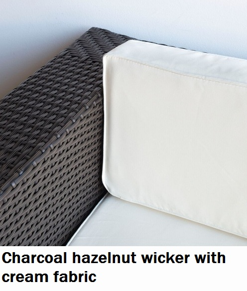 Charcoal Hazelnut with Cream Fabric Lounge
