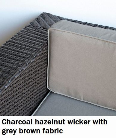Charcoal Hazelnut with Grey Brown Fabric Lounge