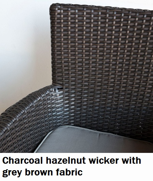 Charcoal Hazelnut with Grey Brown Fabric