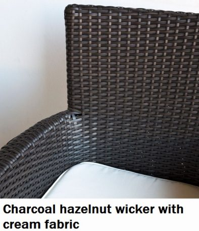 Charcoal Hazelnut with cream fabric