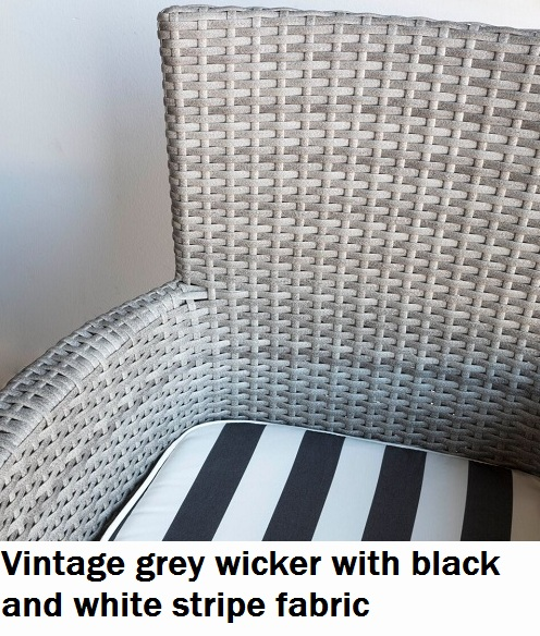 Vintage Grey with Black and White Fabric